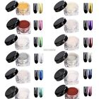 12 Color Glitter Sexy Mirror Chrome Effect Dust Magic Shimmer Nail Art K0E1