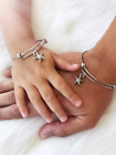 Mother Daughter Starfish Charm Bangle Bracelet Set Mothers Day Mommy and Me Gift