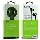 KIKO High-Fidelity Noise-Isolating Earphones w Build-in Microphone Sound Clear