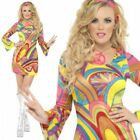 Fever Hippy Costume 60s 70s Flower Power Hippie Womens Ladies Fancy Dress Outfit