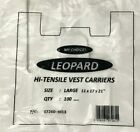 *PLASTIC VEST CARRIER BAGS WHITE 11