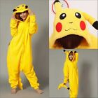New Pikachu Unisex Adult Costume Pajamas Animal Cosplay Onesie Sleepwear Hot