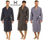 Mens Haigman Brushed 100% Cotton 7395 Dressing Gown Wrap Robe