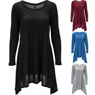 Women's Slim Thin Fashion Loose Basic Long Sleeves Flare Hem Casual Shirt Tops