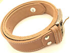 """MENS FULL GRAIN GENUINE LEATHER BELT TAN WITH WHITE STITCHING SIZES 32-60"""" WAIST"""