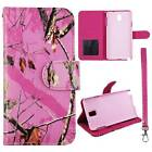 Flip Wallet Camo Pink Mozy For Samsung Galaxy Note 3 N9000 Pu Leather Cover Case