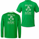Ireland Rugby Shirt Long Sleeve Top T-Shirt In the Blood New 100% Cotton