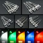10/50pcs 3mm/5mm 5 Color Water Clear LED Diodes Kit Assortment Lamp Bulb DIY US