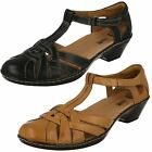 CLARKS WENDY LORAS LADIES T BAR LEATHER SHOE