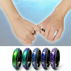 Fashion Steel Discoloration Couple Rings Mood Heart Temperature ECG Jewelry Gift