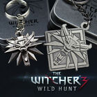 The Witcher 3 Wild Hunt Medallion Wolf Head Car Logo Keychain With Box