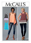 McCall's 7389 Paper Sewing Pattern Misses Size 6-22 Pullover Top with Overlay