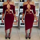 Women Mini Dress Bandage Off Shoulder Evening Party Cocktail Short