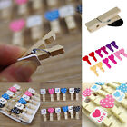 12Pcs/set Love Heart Wooden Clothes Banner Photo Paper Peg Pin Clothespin Clips