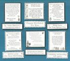 6 Silver & White Birthday Verse Toppers W/WO Matching Sentiment Message Banners
