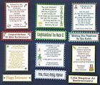 6 RETIREMENT Greeting Verse Toppers W/WO Matching Sentiment Message Banners
