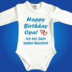 Strampler Babybody Happy Birthday Papa/Mama/Oma/Opa/Onkel/Tante - Babyparty