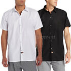 Dickies Shirts Mens Short Sleeve Chef Cook Shirt Pocketless DC127 Black or White