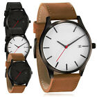 CHIC Fashion Men's Analog Sport Wrist Stainless Steel Case Quartz Leather Watch