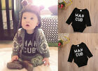 Newborn Toddler Baby Boys Girls Cotton Romper Jumpsuit Bodysuit Clothes Outfits