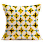 Vintage Geometric Cotton Linen Throw Pillow Case Cushion Cover Home Office Decor