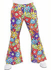 "Gents 70's Flares - ""Hippy Smile"" design   Flared Trousers"