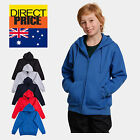 Kids Fleece Hoodie Unisex Full Zip 80% Cotton Soft Quality guarantee 5 Colors