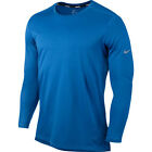Nike Wool Crew Neck Mens Long Sleeve Running Top - Blue