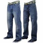 Mens Jeans Denim Designer Belted Seven Series Trouser Faded Bottoms Casual New