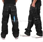 Peviani Mens Boys Cargo Combat Star 002 Blk Jeans Time G Is Money Loose Hip Hop