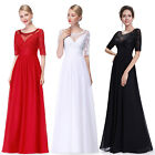 Ever Pretty Women's Half Sleeve Long Evening Party Lace Formal Dress 08655