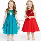 Toddler Baby Girls Kid Sleeveless Dress Princess Pageant Party Flower Dresses