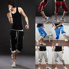 New 3/4 Mens Jogger Shorts Loose Casual Gym Harem Thin Pants Trousers Sportwear