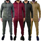 New Mens Designer Longline Hooded Tracksuit Sweatshirt Jogging Bottoms Pants