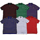 Polo Ralph Lauren Mens Classic Fit Mesh Shirt Striped S M L Xl Xxl Pony Prl New