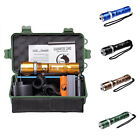 Outdoor LED Flashlight T6 1000LM 800M 5Mode Zoom Torch Bicycle Mount Battery Kit