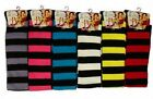 Ladies Over The Knee Stripy Stripey Striped Socks Variety Of Colours Fancy Dress