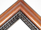 "2 "" Brown Ramen/Black Rope Hardwood Solid Wood Picture Frame-Custom Square Size"