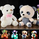 Stuffed Animal Large Bear Panda Doll Hug Colorful LED Flash Light Plush Toy Kid