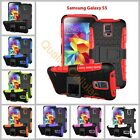 Samsung Galaxy S3 S4 S5 S6 S7 Heavy Duty Armor Phone Case Cover with Stand <br/> Black, Blue, Green, Orange, Purple, Red, Rose, White