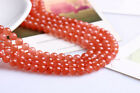 0088 Natural 3A South red agate gems round beads strand