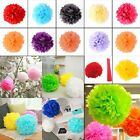 "6"" 8"" 10"" 15"" Colorful Tissue Paper Pom Poms Flower Balls Wedding Birthday Party"