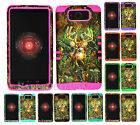 Hybrid Silicone Cover Case for Motorola Droid Maxx XT1080m - Camo Mossy Deer