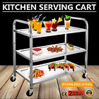 KITCHEN STAINLESS STEEL SERVING CART UTILITY DOLLY FOOD PREP DINING GOOD POPULAR