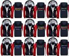 @Football Team Mens Winter Jacket Sweatshirts Thicken Fleece Hoodie Zipper Coat