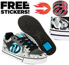 Heelys Motion Camo Roller Trainers Wheel Skull Roller Skates Grey White Shoes