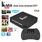KM8 PRO 4K Octa Core Android 6.0 Bluetooth Smart TV Box Movie Streaming+Keyboard