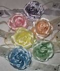 PASTEL COLOR RIBBON & FLOWER HEADBAND SELECT COLOR SHIPS FAST FROM USA
