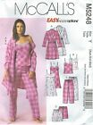McCall's 5248 Misses' Robe, Belt, Top, Nightgown, Shorts & Pants Sewing Pattern