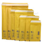 GOLD BUBBLE PADDED ENVELOPES STRONG AROFOL MAILERS BAGS *ALL SIZES / QTY'S*
